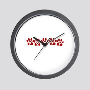 Poppy Paw Prints Wall Clock