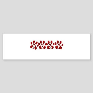 Roxy Paw Prints Bumper Sticker