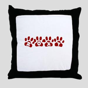 Roxy Paw Prints Throw Pillow