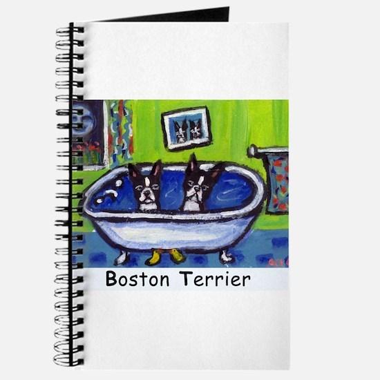 BOSTON TERRIER two in bath de Journal