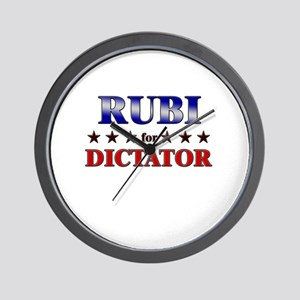 RUBI for dictator Wall Clock