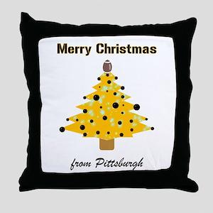 Pgh Xmas Throw Pillow