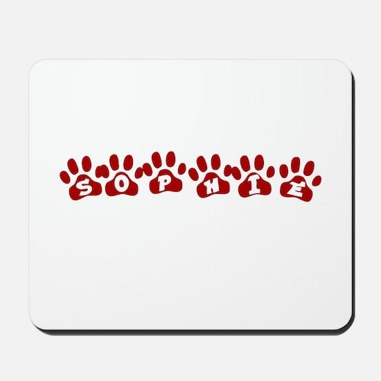 Sophie Paw Prints Mousepad