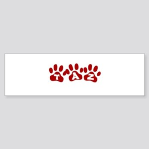 Taz Paw Prints Bumper Sticker