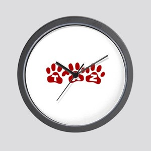 Taz Paw Prints Wall Clock