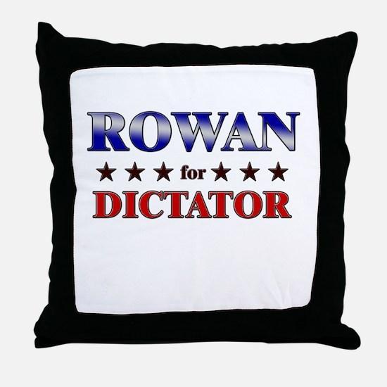 ROWAN for dictator Throw Pillow
