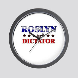 ROSLYN for dictator Wall Clock
