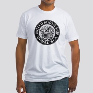 USS CORAL SEA Fitted T-Shirt