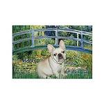 Bridge / Fr Bulldog (f) Rectangle Magnet (10 pack)