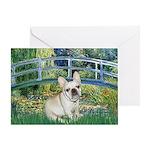 Bridge / Fr Bulldog (f) Greeting Card