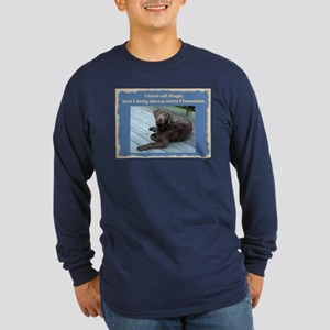 Sleep with Chessies Long Sleeve Dark T-Shirt