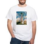 Umbrella /Fr Bulldog (f) White T-Shirt