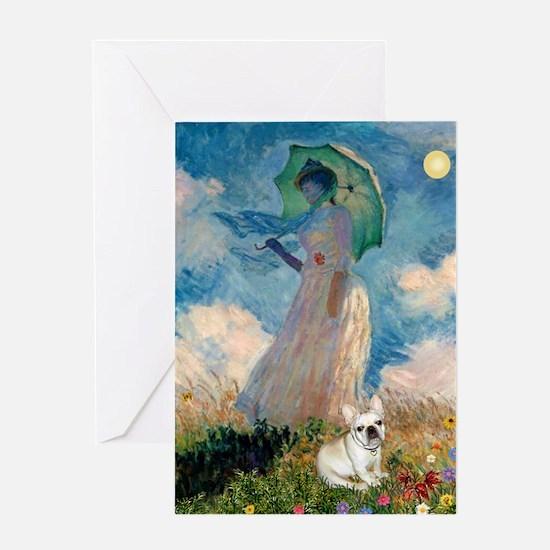 Umbrella /Fr Bulldog (f) Greeting Card