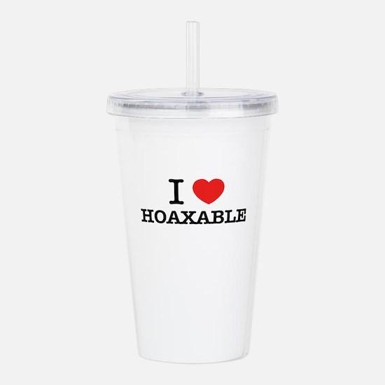 I Love HOAXABLE Acrylic Double-wall Tumbler