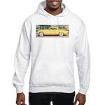 Yellow Studebaker on Hooded Sweatshirt