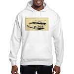 Two '53 Studebakers on Hooded Sweatshirt