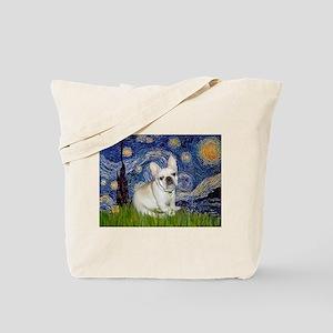 Starry / Fr Bulldog (f) Tote Bag