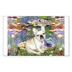 Lilies / Fr Bulldog (f) Sticker (Rectangle)