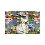 Lilies / Fr Bulldog (f) Rectangle Magnet (10 pack)
