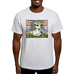 Lilies / Fr Bulldog (f) Light T-Shirt