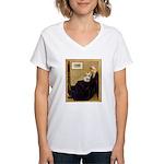 Whistlers / Fr Bull (f) Women's V-Neck T-Shirt