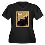 Whistlers / Fr Bull (f) Women's Plus Size V-Neck D