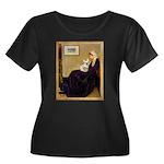 Whistlers / Fr Bull (f) Women's Plus Size Scoop Ne