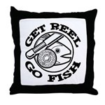 Get Reel Go Fish Throw Pillow