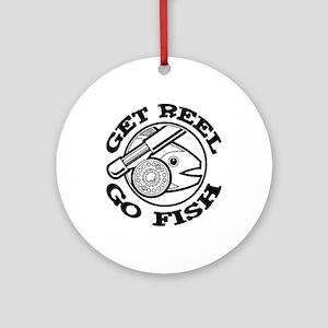 Get Reel Go Fish Ornament (Round)
