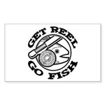 Get Reel Go Fish Rectangle Sticker