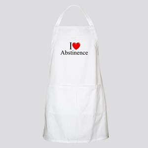 """I Love (Heart) Abstinence"" BBQ Apron"