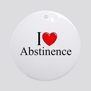 """""""I Love (Heart) Abstinence"""" Ornament (Round)"""