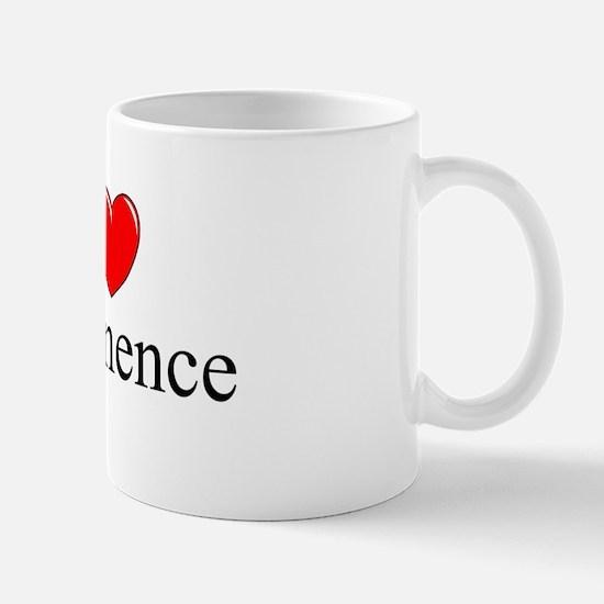 """I Love (Heart) Abstinence"" Mug"