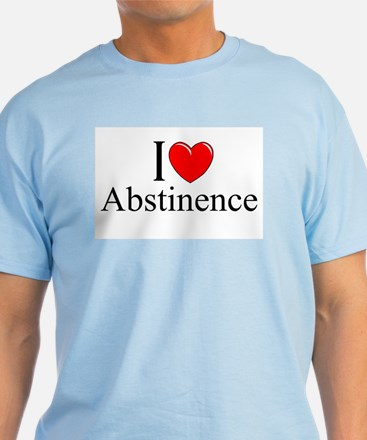 """I Love (Heart) Abstinence"" T-Shirt"