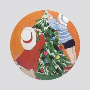 Dressing the Tree Ornament (Round)
