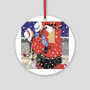 Letter to Santa Ornament (Round)