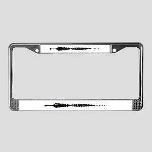 Alligator Bowling License Plate Frame