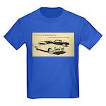 Two '53 Studebakers on Kids Dark T-Shirt