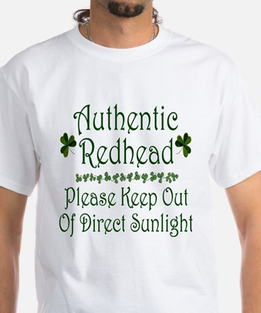 Authentic Redhead White T-Shirt