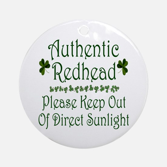 Authentic Redhead Ornament (Round)