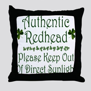 Authentic Redhead Throw Pillow