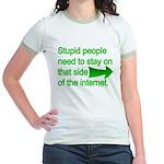 stupid internet Jr. Ringer T-Shirt