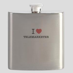 I Love TELEMARKETER Flask