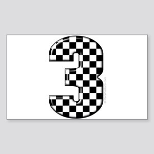 auto racing #3 Rectangle Sticker