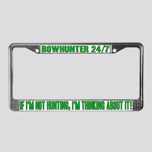 Bowhinter 24/7 License Plate Frame