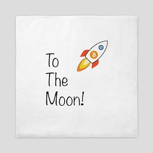 Bitcoin - To The Moon! Queen Duvet