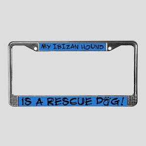 Rescue Dog Ibizan Hound License Plate Frame