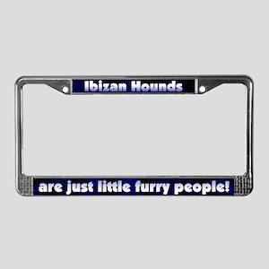 Furry People Ibizan Hound License Plate Frame