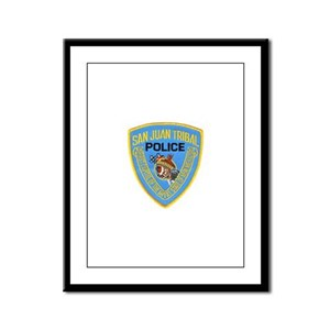 San Juan Indian Police Framed Panel Print