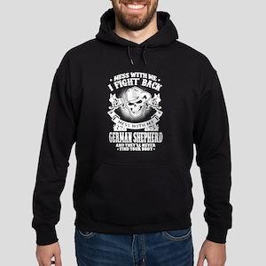 Mess With My German Shepherd Hoodie (dark)